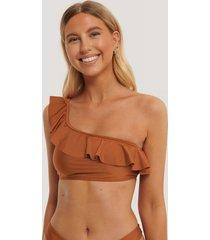 na-kd swimwear bikiniöverdel - copper