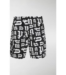 palm angels monogram print swim shorts