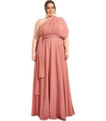 vestido plus size longo infinity lala dubi dress