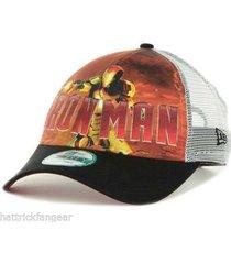 new era 9 forty marvel comics iron man 3 meshback snapback cap/hat - osfm