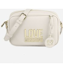 love moschino shoulder bag in faux leather