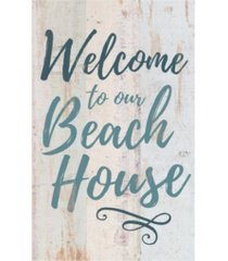 p graham dunn welcome to our beach house wall art