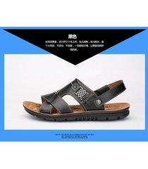sandalias casuales de cuero de los hombres