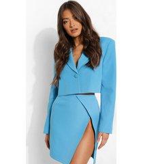 mix & match gekleurde korte blazer, bright blue