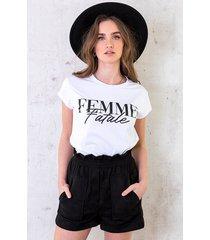 t-shirt femme fatale wit