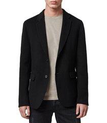 men's allsaints hanson slim fit wool blend coat