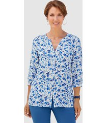 blouse paola blauw::wit