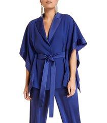 plus size women's marina rinaldi flavia tie waist jacket