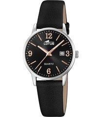 reloj acero clasico negro lotus