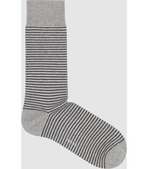 reiss terry - striped socks in grey, mens