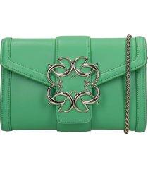 elie saab shoulder bag in green leather
