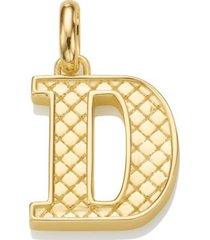 alphabet pendant d, gold vermeil on silver