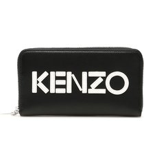 kenzo zip-around logo wallet