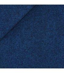 pantaloni da uomo su misura, vitale barberis canonico, flanella spigata blu, autunno inverno