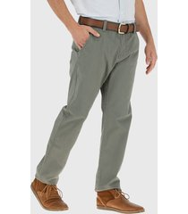 pantalón van heusen gabardina elasticada verde - calce regular