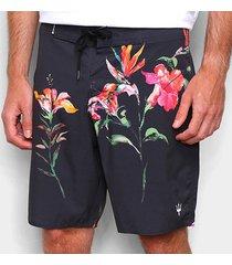 bermudas osklen masculino surf hibiscus night-61671 - masculino