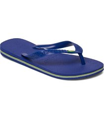 brasil shoes summer shoes flip flops blå havaianas