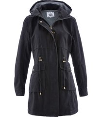 parka di cotone foderato in jersey (nero) - bpc bonprix collection
