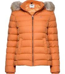 tjw basic hooded down jacket fodrad jacka orange tommy jeans