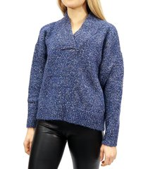 rd style women's speckled sweater - midnight blue - size l