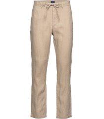 d2. relaxed linen drawstring pant chino broek beige gant