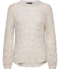 bridget wool sweater stickad tröja creme lexington clothing