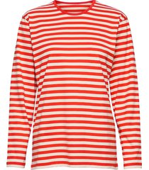 pitkähiha shirt t-shirts & tops long-sleeved rood marimekko