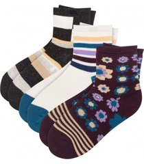 calcetin mujer tripack multicolor pair of thieves