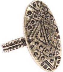 anillo aymara dorado humana
