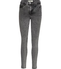 molly highwaist jeans skinny jeans grå gina tricot