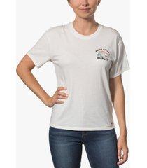 hurley x hello kitty juniors' surfs up cotton girlfriend t-shirt