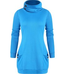 cowl neck tunic sweatshirt