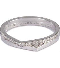 'antifer' diamond 18k white gold double row ring