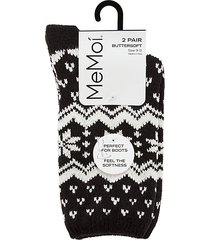 snowflakes buttersoft 2-pack crew socks