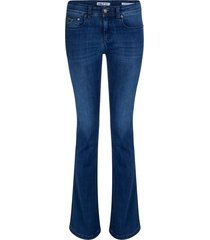 leia teal melrose flare jeans