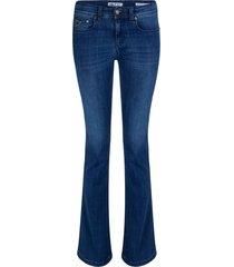 leia teal melrose flare jeans