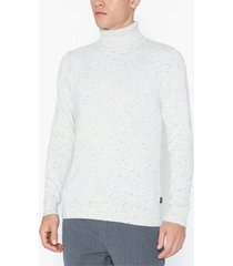 premium by jack & jones jpraiden knit roll neck tröjor vit