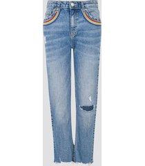 jeans med raka ben - blå