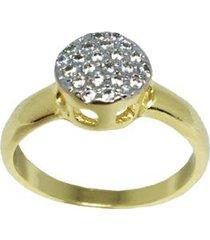 anel chuveirinho pequeno folheado em ouro 18k