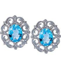 women's milgrain earrings in sterling silver