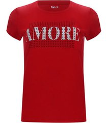 camiseta amore color rojo, talla l