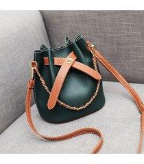 secchiello in pelle pu per donna borsa tracolla borsa spalla borsa