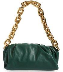bottega veneta the chain pouch leather shoulder bag - green