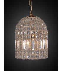 lustre de cristal vendome com 1 lâmpada