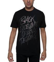 sean john men's black excellence glitter t-shirt