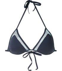 track & field folhas bikini top - blue