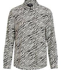 blouse zebra patterned