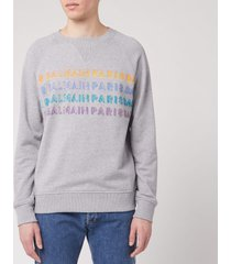 balmain men's printed balmain sweatshirt - grey - xl