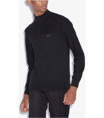 ax armani exchange men's quarter-zip sweater