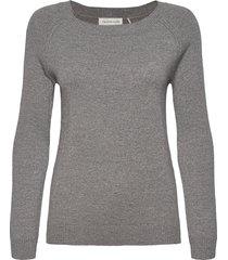 pullover ls stickad tröja grå rosemunde